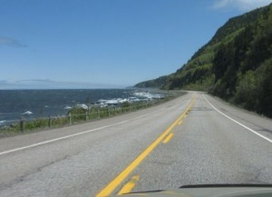 Route 132 en Haute-Gaspésie, photo : MCL.
